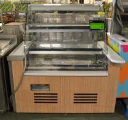 Refrigerated Glass Display Unit - L1335 x D1000 x H1460mm