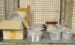 6x Aluminium Stewpans 4pt, Various Aluminium Cooking Pots
