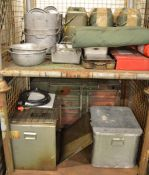 Field Catering Kit - Cooker. Oven, Utensils in storage box, pots, pans, norweigen food box