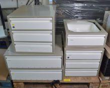 2x Aluminium Drawer Unit L500 x W520 x H200mm, Aluminium 3-Drawer Unit L500 x W560 x H460m