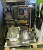 Gastronorm pans, Lincat hot water dispenser (as spares)