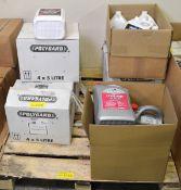15x Bottles of Polygard OAT Anti-freeze Coolant 5L, 4x Bottles of Bluecol OE 30/34 Coolant