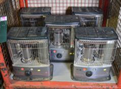 5x Zibro Space Parafin Heaters
