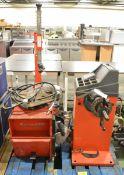 MF MT-1200 Vehicle Wheel Balancer Machine & Butler 1110 Tyre Fitting/Removel Machine