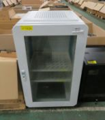 Metal IT Server Cabinet on Wheels - L595 x D600 x H1075mm (no key)