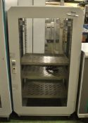 Metal IT Server Cabinet on wheels - L595 x D580 x H1080mm (no key)