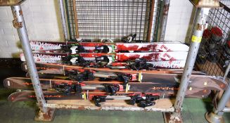 12x Pairs of Skis With Bindings