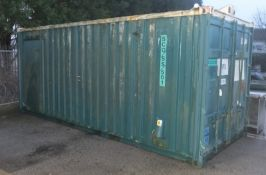 ISO Container 2.2W x 5.3L x 2.6H With Fitted Rolling Flatbed - green