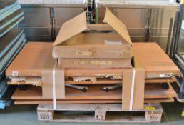 6x Folding Legged Tables L1600 x W800 x H680 mm