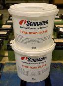2x 5kg Schrader Tyre Bead Paste
