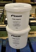 2x 5kg Schrader Tyre Paste