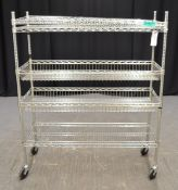 Vogue 5 Shelf Mesh Unit - L1200 x W460 x H1470mm