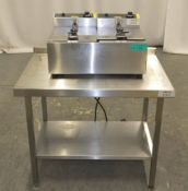 Buffalo L485-03 Double Electric Fryer on Stainless Steel Unit - L850 x D600 x H630mm (dime