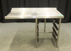 Stainless Steel Table with tray racking - L1300 x W680 x H960mm