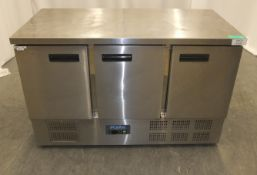 Polar Refrigeration G622 3 Door Refrigerated Preparation Counter
