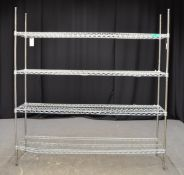 Metal 4 Shelf Mesh Unit - L1820 x W460 x H1880mm