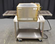 Lincoln CTI IP21 Countertop Conveyor Oven on Stainless Steel Trolley Unit
