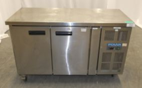 Polar Refrigeration G377 Double Door Refrigerated Preparation Counter