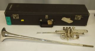 Besson 700 Fanfare Trumpet in case - Serial Number - 706 - 763702