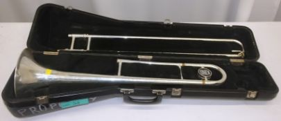 King Tempo 606 Trombone in case (dents on instrument)