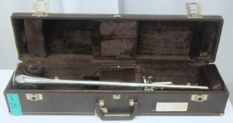 Boosey & Hawkes Fanfare Trumpet in Besson case - Serial Numbers in description.