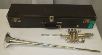 Besson 700 Fanfare Trumpet in case - Serial Number - 706 - 837757