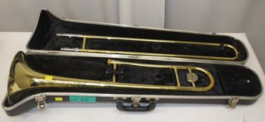 Selmer Bundy Trombone in case - Serial Number - 925054 (dents on instruments)