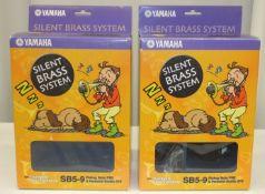 2x Yamaha SB5-9 Silent Brass Systems Pickup Mute PM5 & Personal Studio ST9 for Trombone
