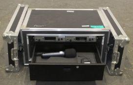 2x Sennheiser True Diversity Recievers, Sennheiser SK300 Bodypack Transmitter & Sennheiser EW300 G3