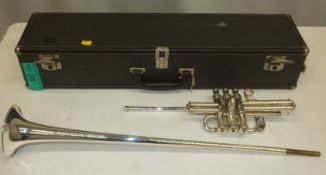 Besson International Fanfare Trumpet in case - Serial Number - 706 - 719532
