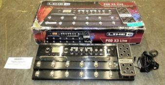 Line 6 POD X3 Live Guitar Pedalboard