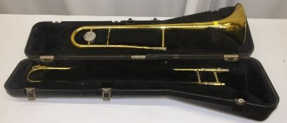 King Trombone in case - Serial Number - 108606 - A4984 (dents on instrument)