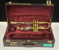 Besson International Series Trumpet in case - Serial Number - 713-820455.
