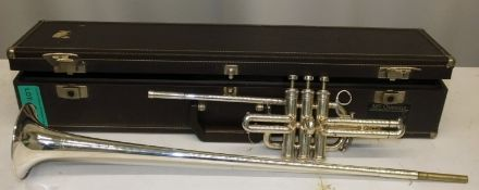Besson International Fanfare Trumpet in case - Serial Number - 706 - 821387