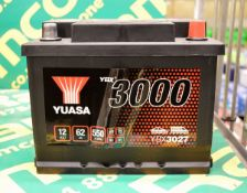 Yuasa YBX3027 12V 62Ah 550A Battery