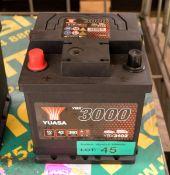 Yuasa YBX3102 12V 42Ah 390A Battery