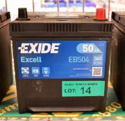 Exide Excell EB504 12V 50Ah 360A Battery