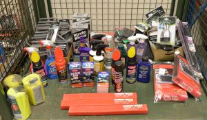 Various Car Cleaning Products, Warning Triangles, & Accessories