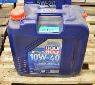20L Liqui Moly 10W-40 Super Leichtlauf Motor Oil