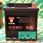 Yuasa YBX3202 12V 42Ah 390A Battery