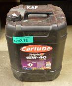 20L Carlube TripleT 15W-40 SHPD E9 Motor Oil