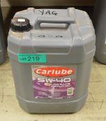 20L Carlube 5W-40 R-Tec 21 C3 Motor Oil