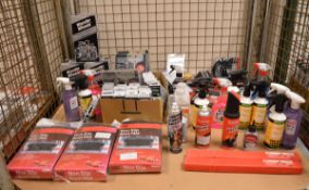Various Car Cleaning Products, Boot Mats & Accessories