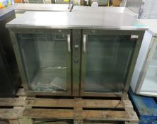 Gamko double door glass fronted cabinet - 1160mm x 530mm x 860mm