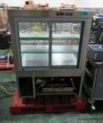 Refrigerated Glass Display Unit (as spares) - L 970mm x D 750mm x H1370mm