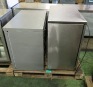Precision double door glass fronted fridge - 900mm x 500mm x 900mm, Osbourne double door g