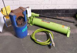 Portable Hydraulic Swaging Tool, Larzep hydraulic hand pump