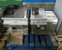 2x Black & White commercial coffee machines