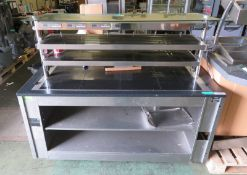 Nuttalls heated counter with under counter storage shelves - L 1720mm x D 1000mm x H 1400m