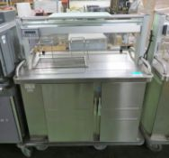 Heated servery counter - 1200 x 700mm
